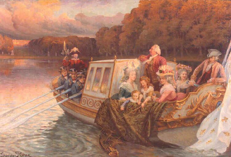 Le canot de promenade de Marie-Antoinette à Versailles Ganges10