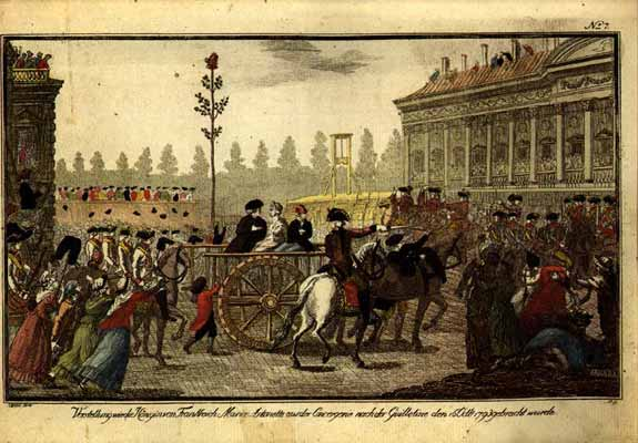 16 octobre - L'exécution de Marie-Antoinette le 16 octobre 1793 Guillo11