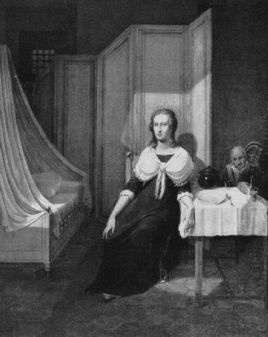 La Conciergerie : Marie-Antoinette dans sa cellule. Johann10