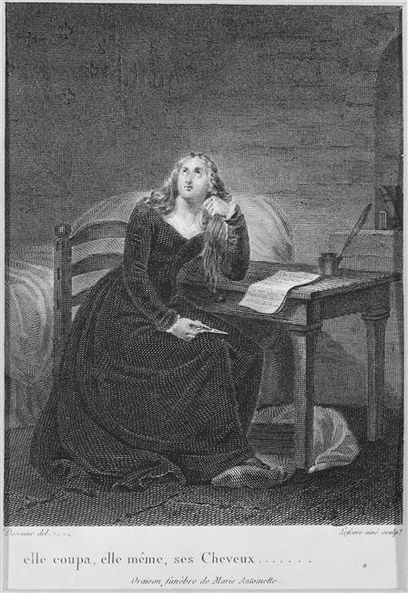 La Conciergerie : Marie-Antoinette dans sa cellule. Lefavr10