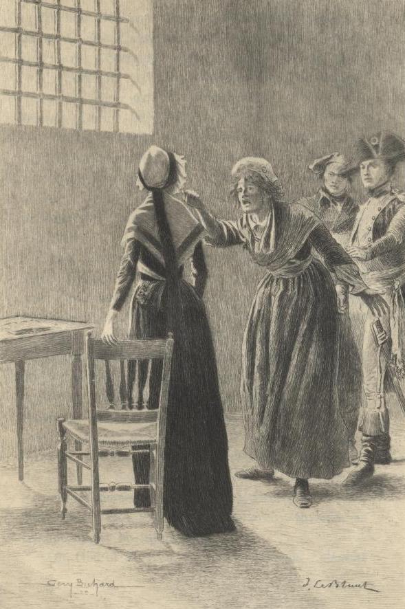 La Conciergerie : Marie-Antoinette dans sa cellule. Ma-pri10