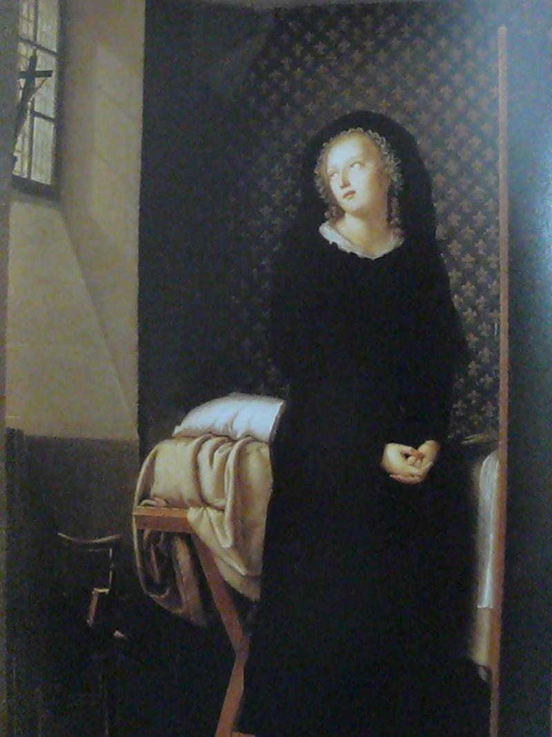 La Conciergerie : Marie-Antoinette dans sa cellule. P1000511