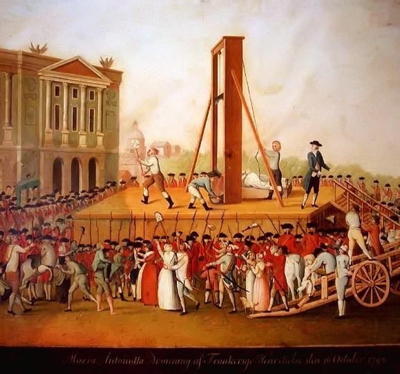 16 octobre - L'exécution de Marie-Antoinette le 16 octobre 1793 Samfel10