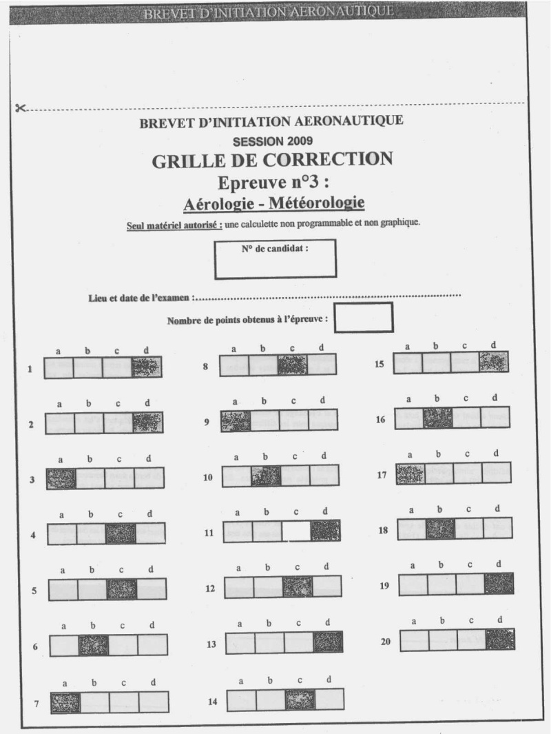 Sujets et corrigés  BIA 2009 - Page 5 Meteo11