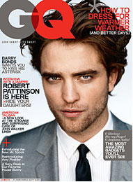 Rob en couverture du GQ d'avril 2009 Gq10