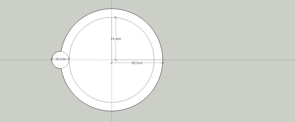 [ SKETCHUP généralité ] Plusiseurs anneaux sur le comntour d'un cercle Sans_t10