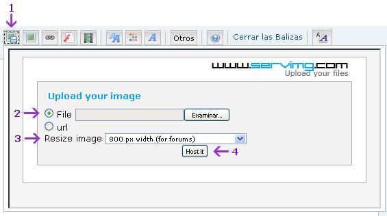 Como insertar fotos Pasos111