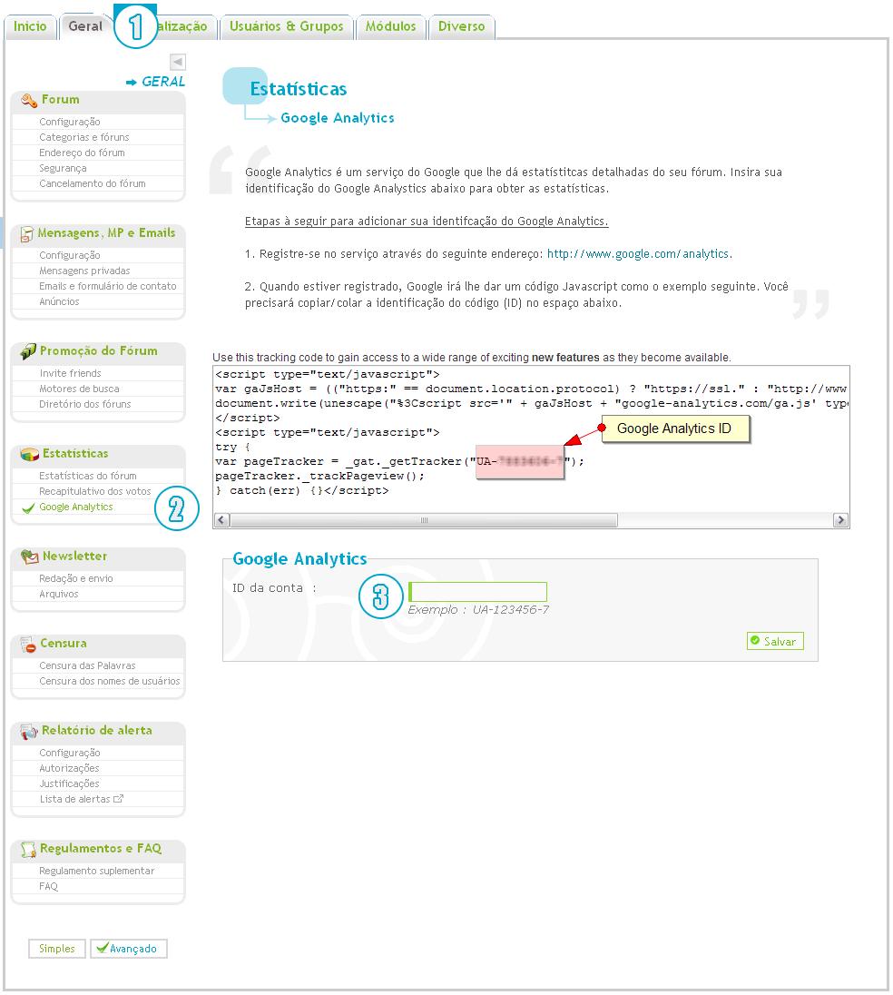 "[FAQ] Adicionar código ""Google Analytics"" Google10"