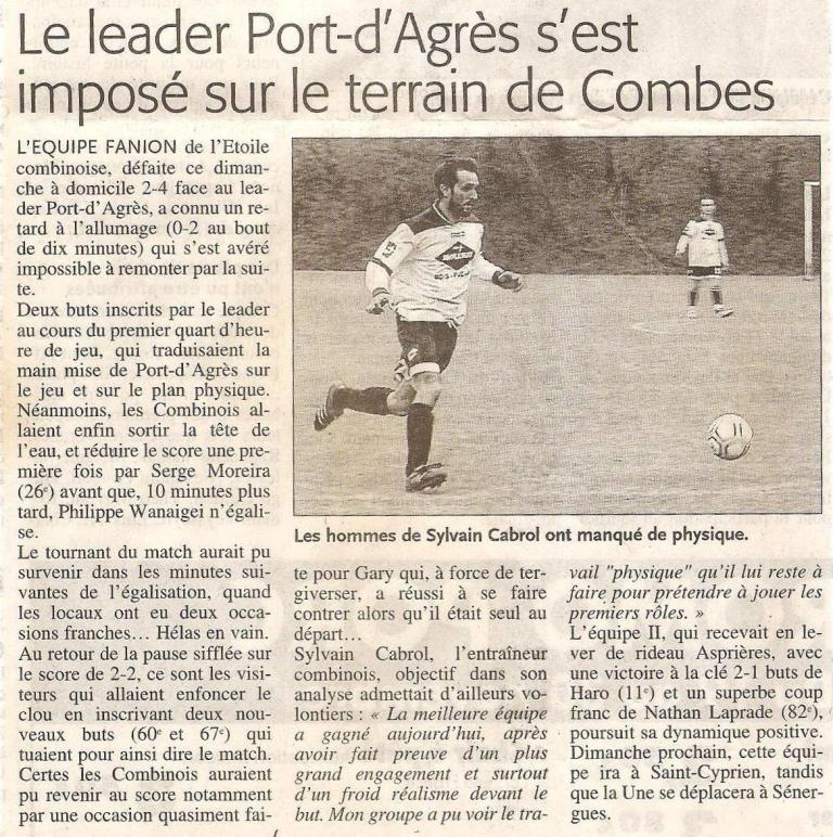 Articles de Midi-Libre Saison 2008-2009 2008_n12