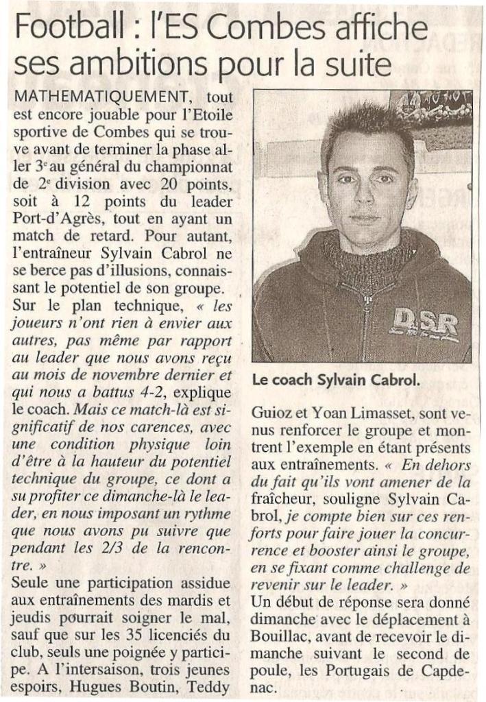 Articles de Midi-Libre Saison 2008-2009 2009_j13