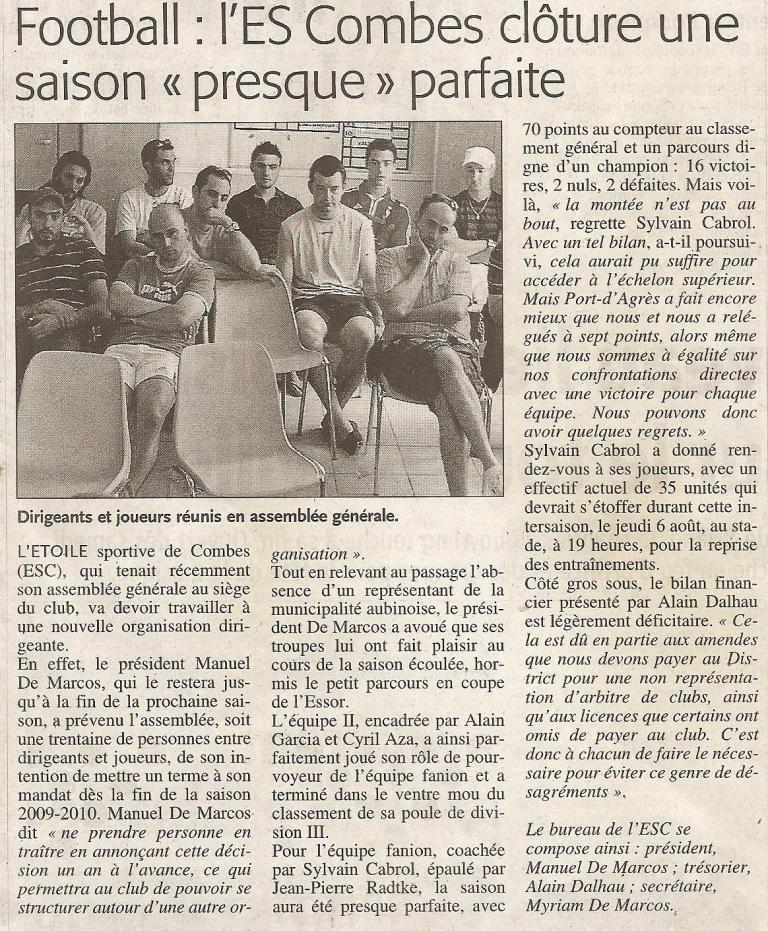 Articles de Midi-Libre Saison 2008-2009 2009_j15