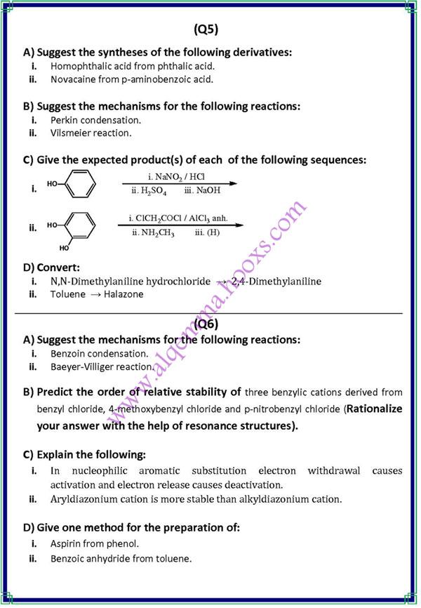 امتحان الكيمياء الاروماتيه 2009 Aromat12