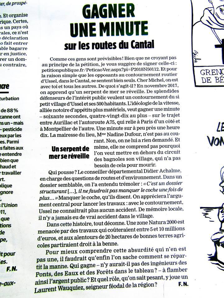 Quand Charlie Hebdo parle du Cantal  54524810