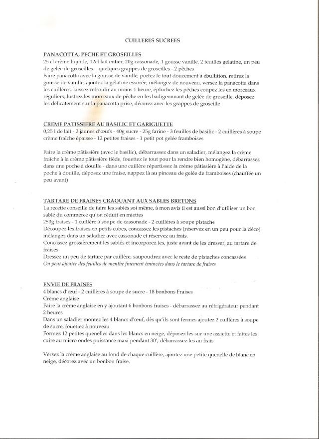 CUILLERES SUCREES POUR AMUSE DESSERT Numari15