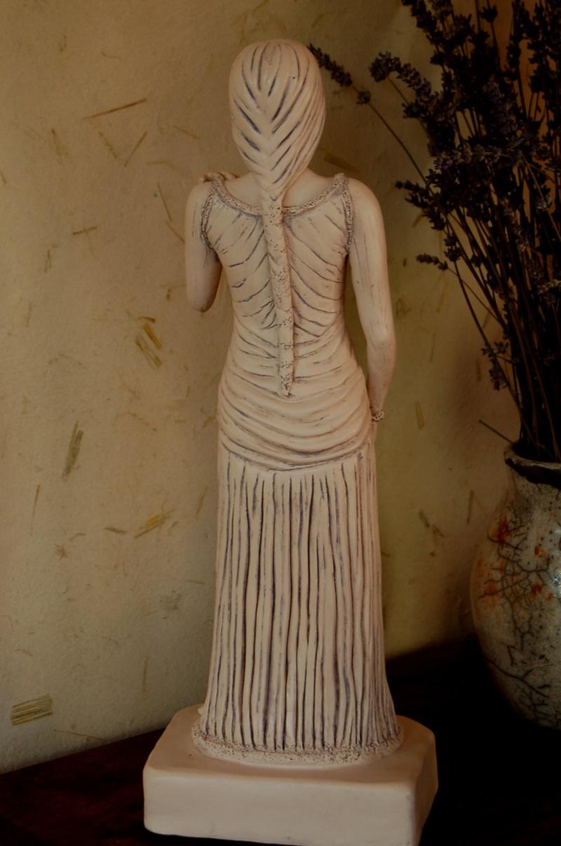 Sculpture modelage drapé après patine bleutée Olympe24