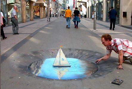 Straßenmalerei Strass10