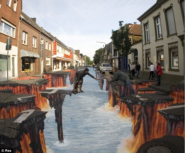 Straßenmalerei Clubma13