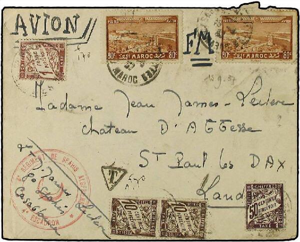 Taxe FM Maroc 1937 Maroc11