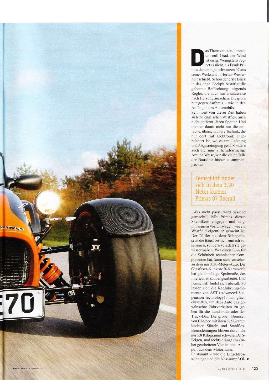 Autozeitung 10 April-09  -  Toller Bericht über Primas Motorsport Primas11