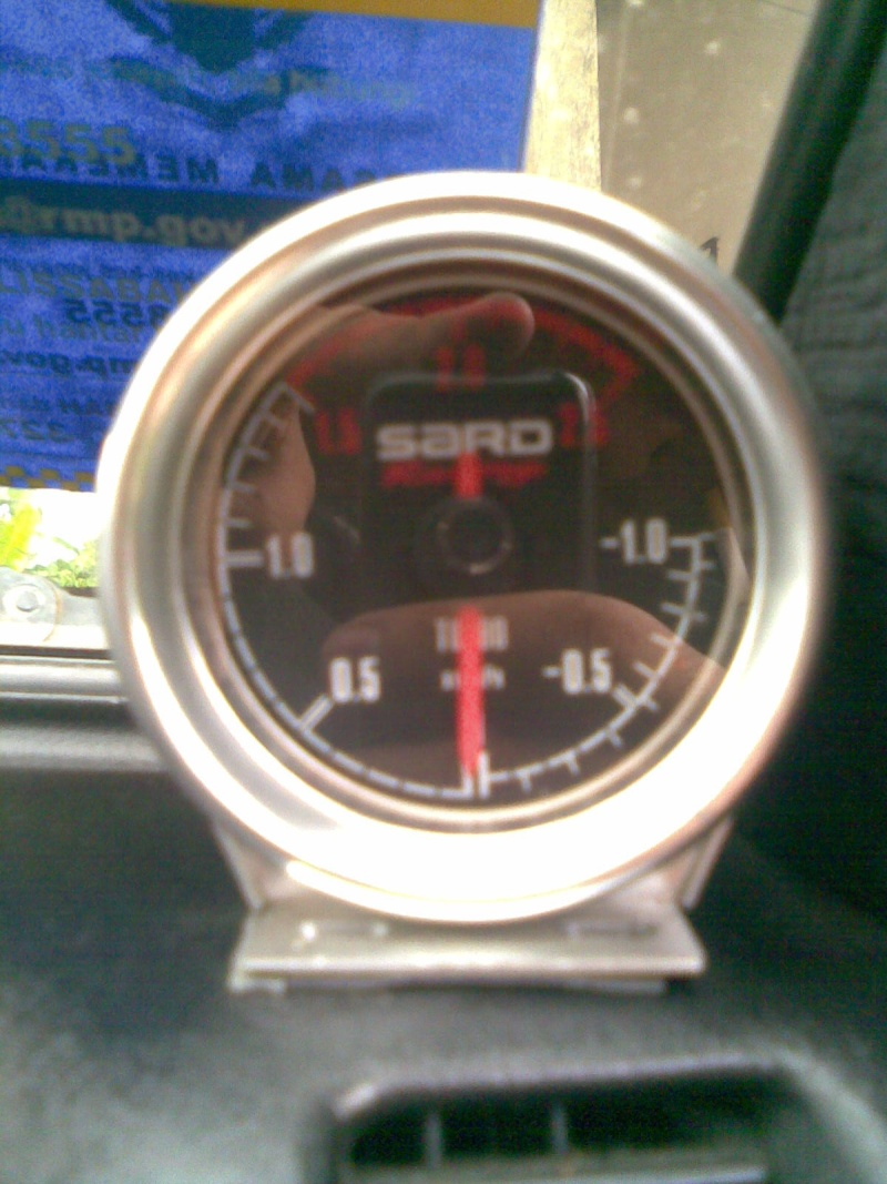 Sard racing boost meter blackface 2.5 BAR Image028