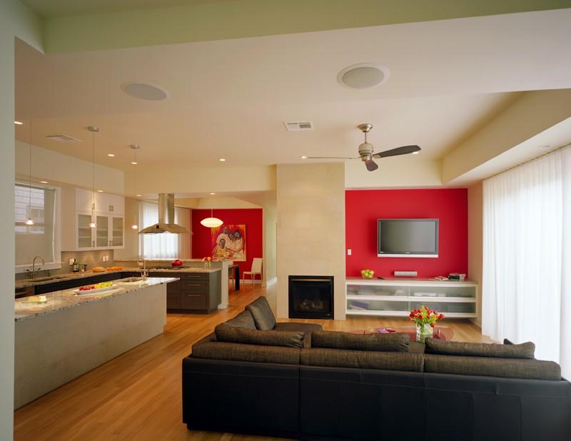Cuisine ouverte sur salle, salon et entrée Opklv410
