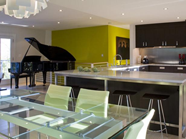 Cuisine ouverte sur salle, salon et entrée Opklv510