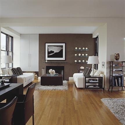 Recherche id es de couleurs de papiers peint et d co pour mon salon - Idee deco salon marron ...