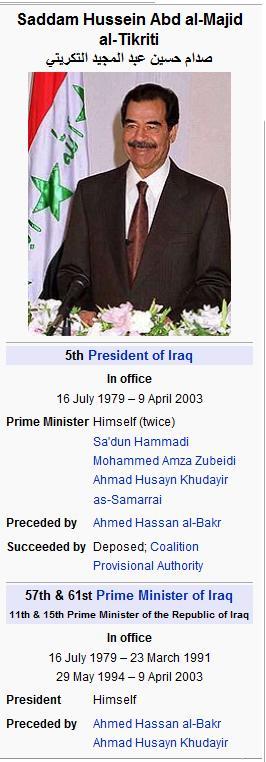 Do you Think Former President Bush was a bad president? 2.0 - Page 3 Saddam11