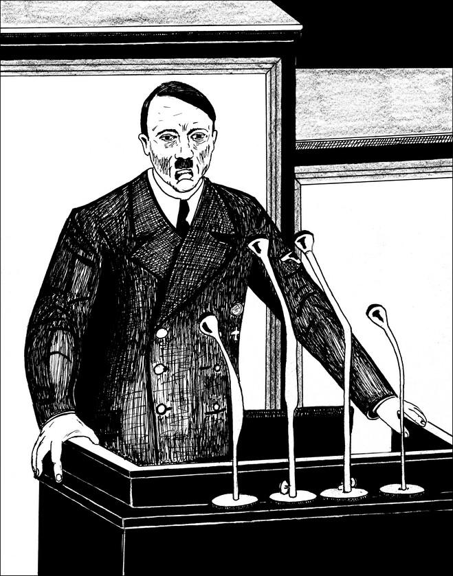 1ers dessins en vue d'une future BD Hitler11