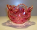 Knobbly Maroon Glass Bowl 001_310