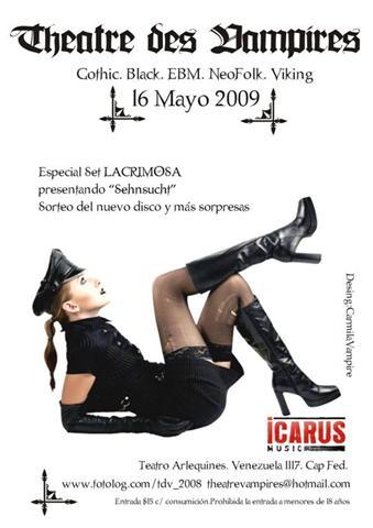 "Theatre des Vampires ""Fiesta"" [16/05/2009] Teatro Arlequines Flyerl10"