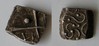 Drachmes au triskèle et à tête triangulaire [WM n° 7633 à 7637] Carduq12