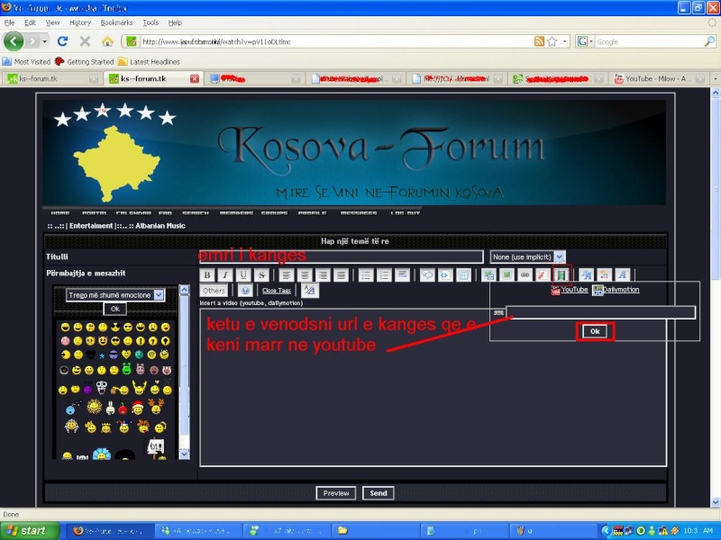 Si te vendosim video ne forum Ks10