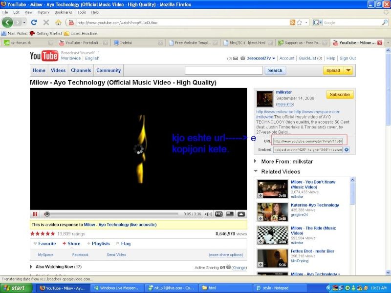 Si te vendosim video ne forum Url10