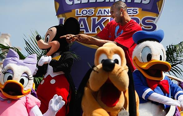Kobe Celebrates Championship at Disneyland 47572210