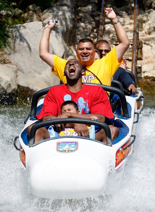 Kobe Celebrates Championship at Disneyland Kobe-b10