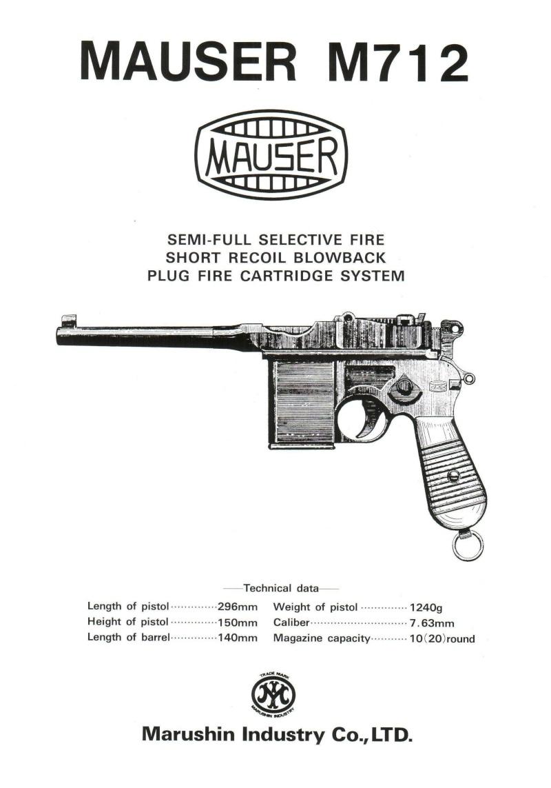 Marushin Mauser Schnellfeuer M712 Instruction Manual (Japan) 118