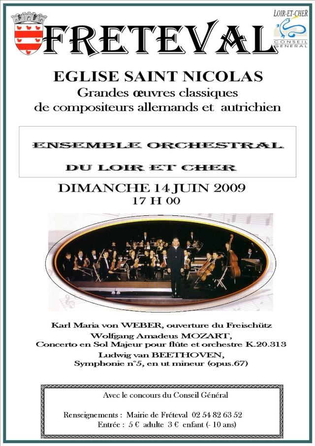 Eglise de Fréteval le 14 juin 2009, oeuvres classiques Affich10