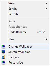 Windows 7 : Как добавить ярлыки программ в контекстное меню Windows Change10