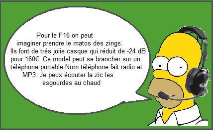 Intercom/Telephone/radio FM en Secma F16 Homer11