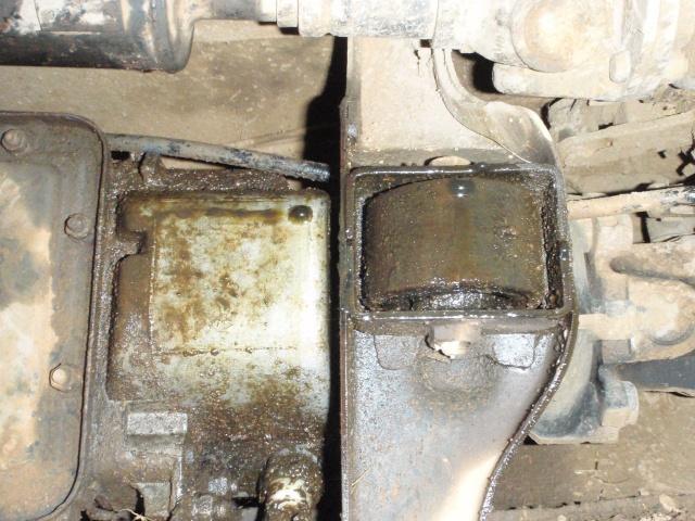 Fuite d\'huile au niveau de la boite de vitesse Pa290210
