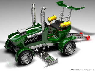 tracteur tondeuse de course racing