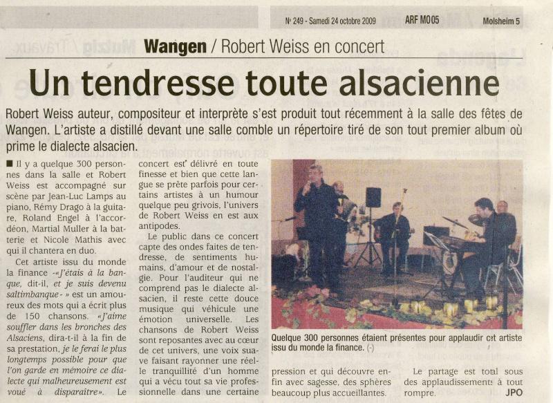 Robert Weiss en concert à la salle des fêtes de Wangen le 9 octobre 2009 Image032