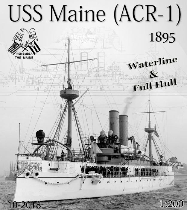 Incrociatore USS MAINE - modello in carta 1:200 Copert10