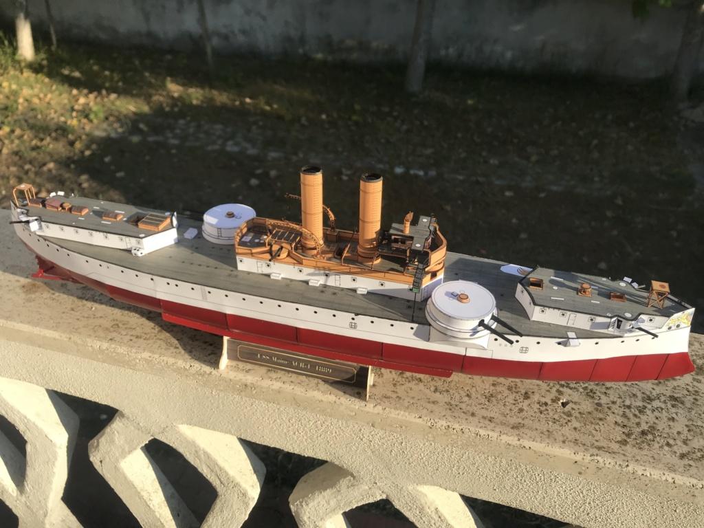 Incrociatore USS MAINE - modello in carta 1:200 Maine011