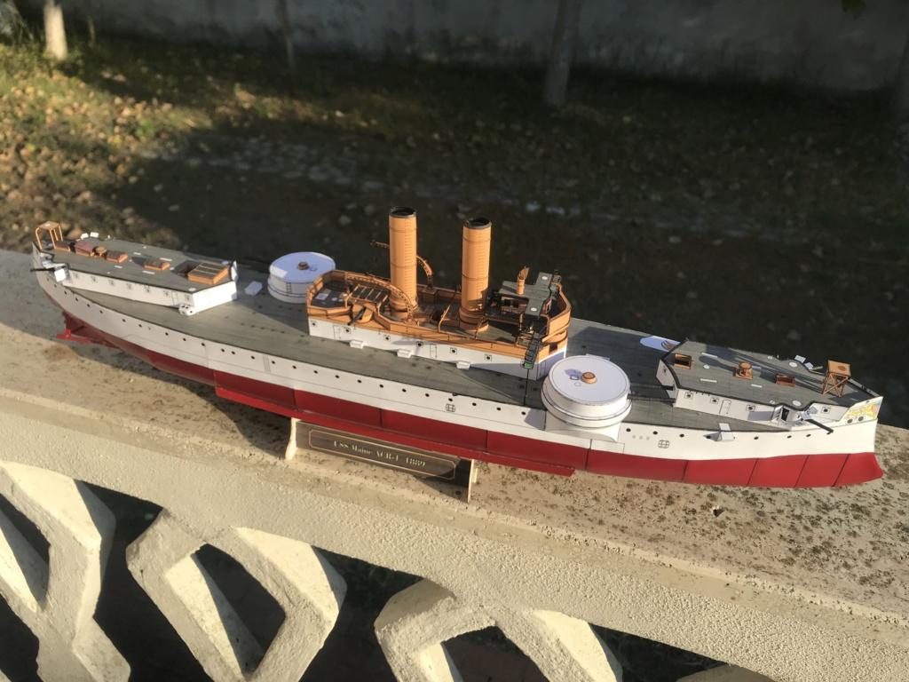 Incrociatore USS MAINE - modello in carta 1:200 Maine012