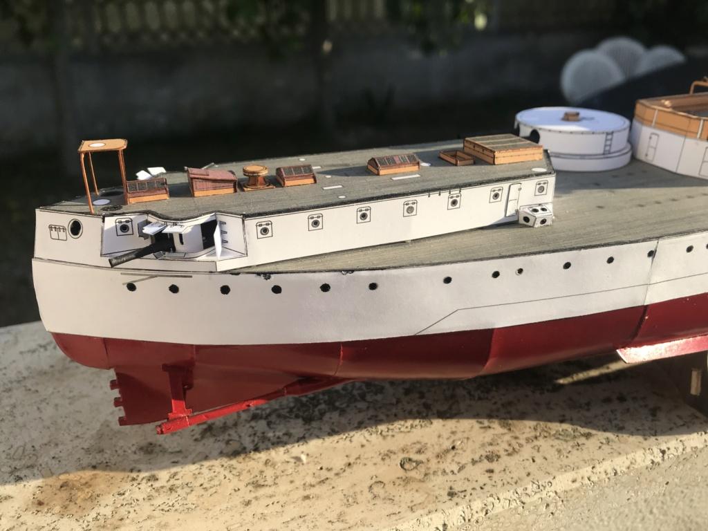Incrociatore USS MAINE - modello in carta 1:200 Maine015