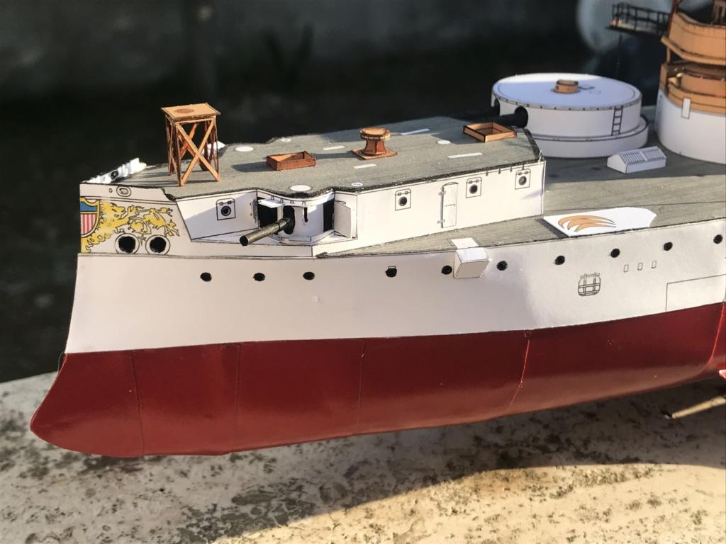 Incrociatore USS MAINE - modello in carta 1:200 Maine016