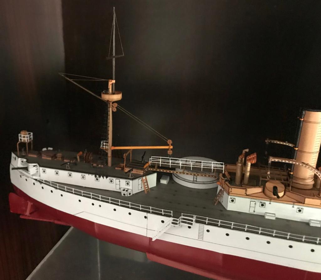 Incrociatore USS MAINE - modello in carta 1:200 Maine117