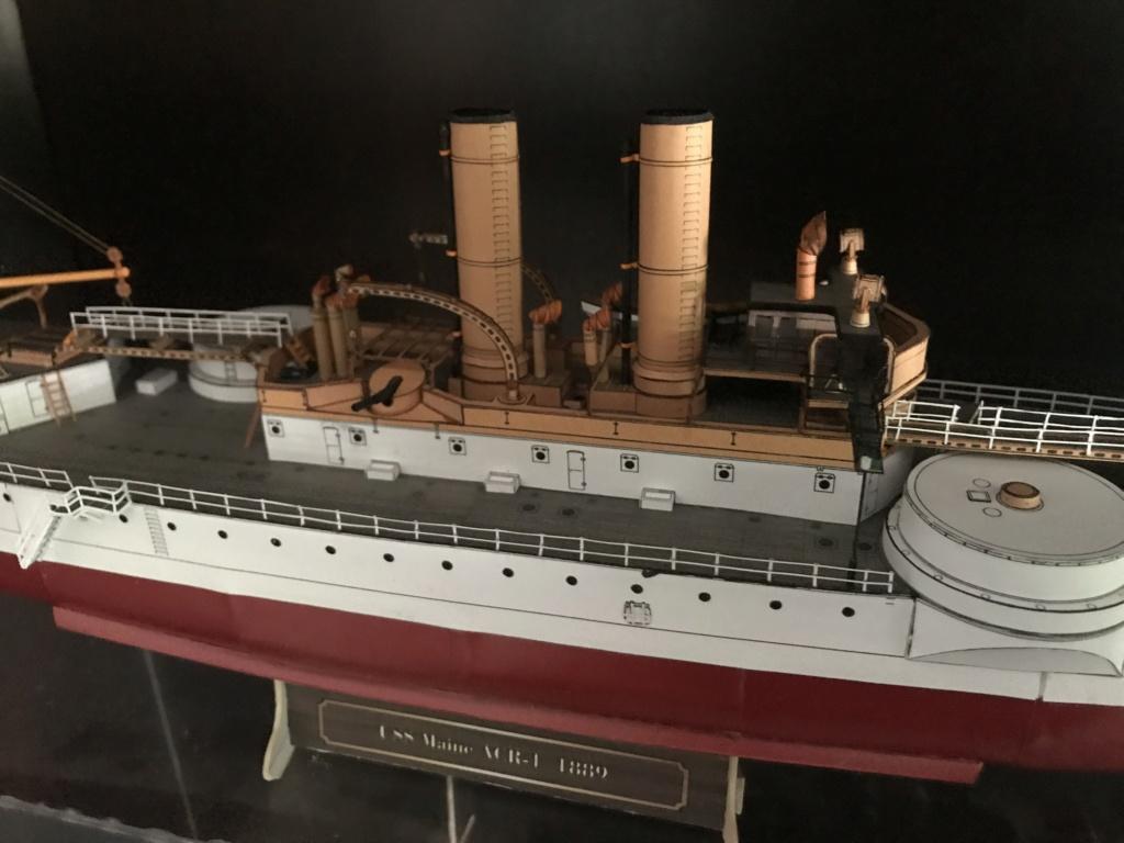 Incrociatore USS MAINE - modello in carta 1:200 Maine118